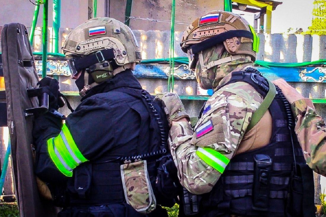 Обнародовано видео операции СОБРа по пресечению действий убийцы в Малосердобинском районе