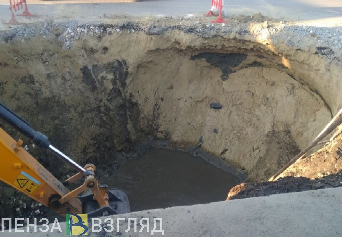Ситуацию с устранением провала асфальта на проспекте Строителей контролирует пензенская прокуратура