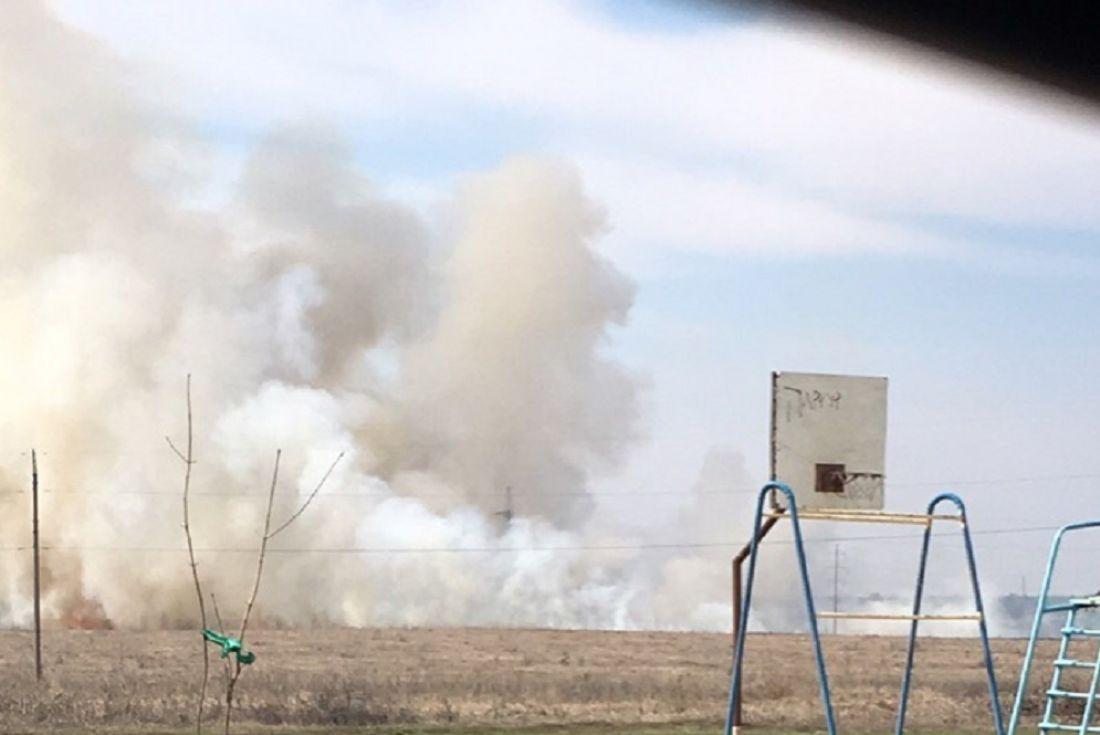 Кузнечане выкладывают фото горящего поля