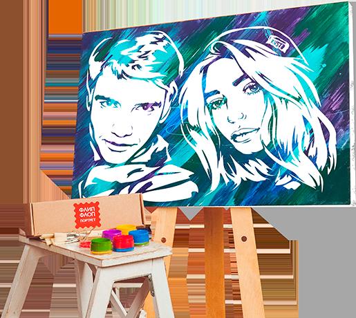 Создание уникального флип арт портрета